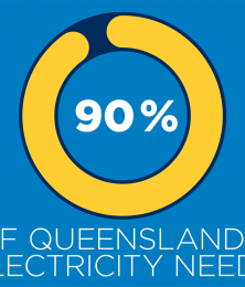 Still frame from video showing renewables could make up 90% of Queensland's electricity needs